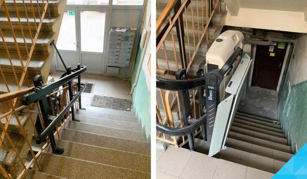 Plošina na schody V65