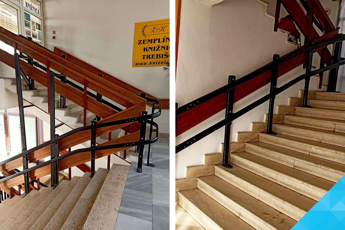 Dráha šikmej schodiskovej plošiny